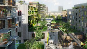 Jätkäsaari-puukerrostalot, vihreät korttelit, yhteisöllinen asuminen