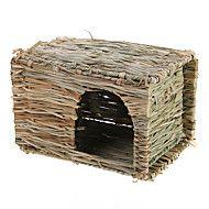 klein huisdier hamster muis rat konijn gras huis kennel snooze cabin