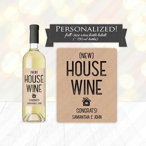 0e811852306 New House Wine Bottle Label - Custom Housewarming Gift Idea, Realtor ...