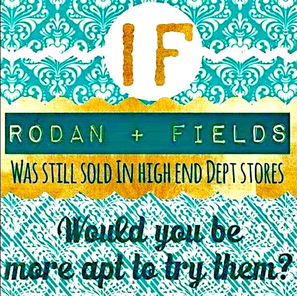 Fun fact for you guys on this beautiful Tuesday!  Rodan+Fields did NOT start out as a direct selling company! They started out with Estée Lauder and they were only sold in high-end department stores like Henri Bendel, Bloomingdales, Neiman Marcus... AND they were the #1 clinical brand at Nordstrom!  When the economy crashed in 2008 they BOUGHT themselves back from Estée Lauder and launched as a direct selling company because they wanted to create entrepreneurial opportunities for Americans