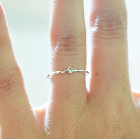 Diamond Ring Sterling Silver Promise Rings For by BlueRidgeNotions this is so pretty, I love this one