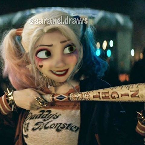 Rapunzle and Harley Quinn together awesome dont you think