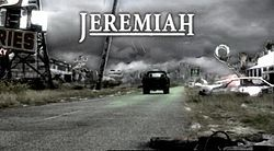 Jeremiah (2002 Mar 3 - 2004 Sep 24 Showtime) – a tv series canceled prematurely within 2nd Season. Silly name (loosely based on Belgian writer Hermann Huppen's comic book series Jeremiah) but viral Post-apocalyptic plot intriguing. Created by J. Michael Straczynski (Babylon5). Stars: Luke Perry / Malcolm-Jamal Warner (Cosby : ) / Sean Astin / Peter Stebbings / Ingrid Kavelaars / Byron Lawson / Kim Hawthorne