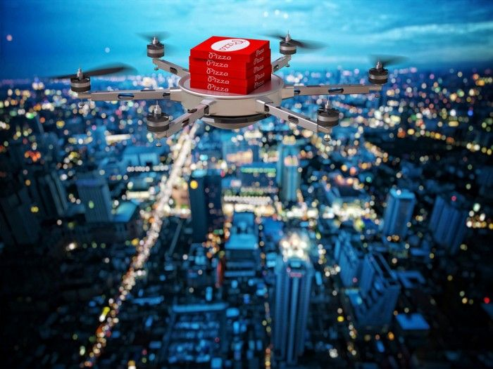 The Pizza Delivery Drone