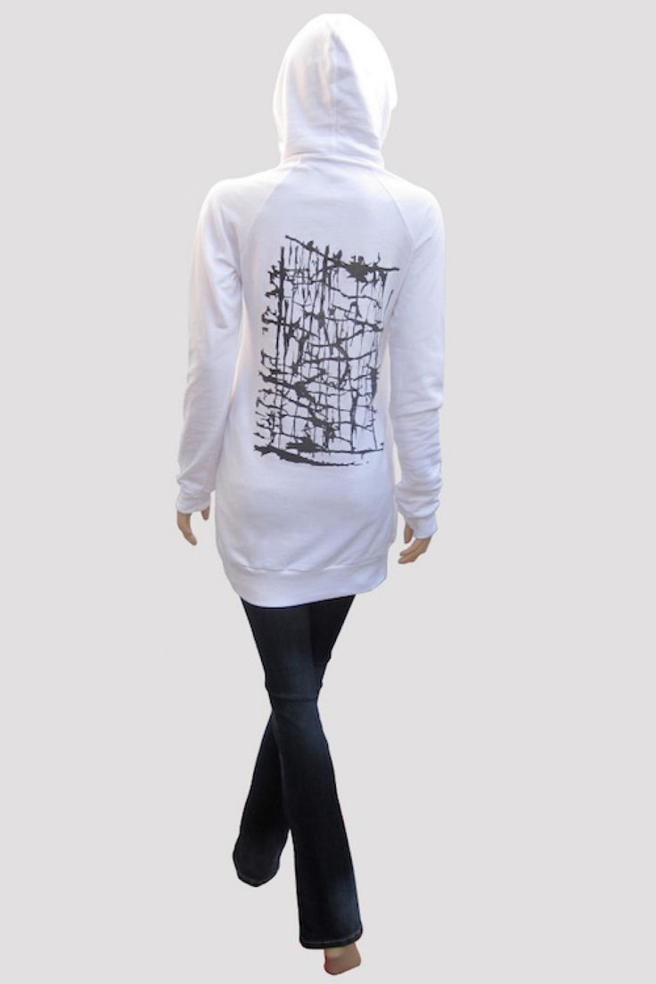 Love hoodies and dresses? This abstract design, dressier type of hoodie/dress  features