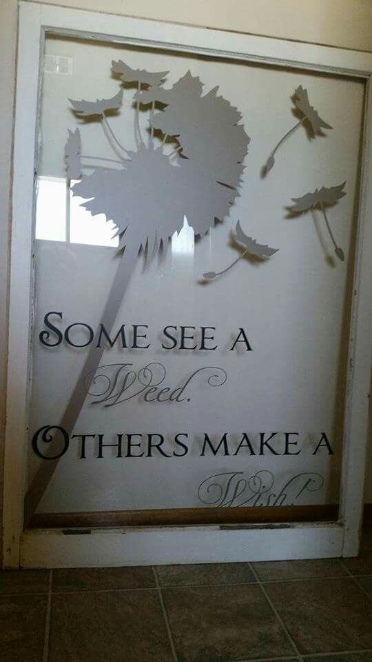 Making a wish! Love Uppercase and an old window! #uppercaseliving #inspirewendy #dandelion