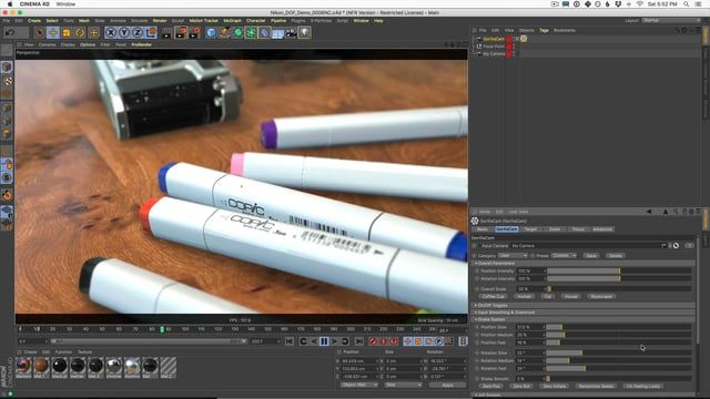 In this video, Nick shows you a new plugin from Greyscalegorilla called GorillaCam. GorillaCam helps you easily make more natural and realistic camera animation in Cinema 4D.   ***Learn more about Gorilla Cam Here:  https://greyscalegorilla.com/download/gorillacam/