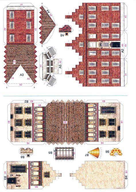 Four Old Town Houses - PaperModelKiosk.com