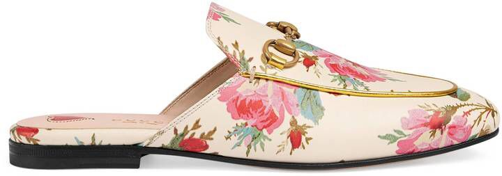 Princetown rose print leather #slipper #gucci #flats #ad