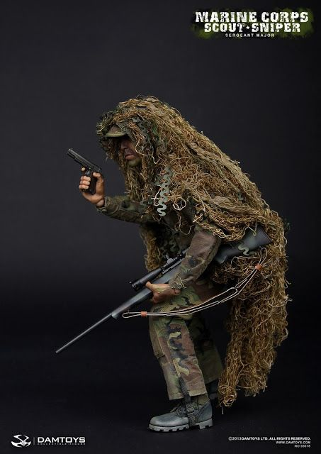 onesixthscalepictures: DAM Toys MARINE CORPS SCOUT SNIPER Sergeant Major : Latest product news for 1/6 scale figures (12 inch collectibles) ...