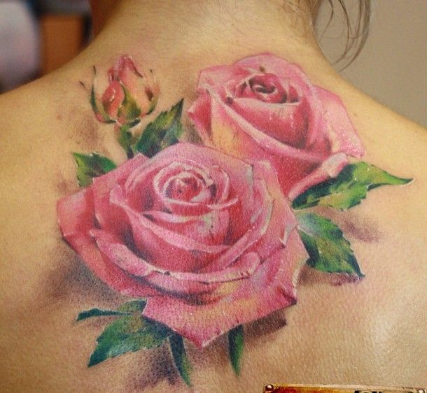 pink rose tattoo/ would like to add around the cameos