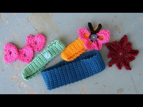 Crochet a basic headband or hairband, easy (Adjust size for older children & adults... Decoration should be age appropriate... Deb)