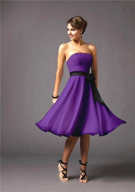 Purple Maid Of Honor Dresses | ... in her dress: [purple2] (just the dress lol) She was my maid of honor