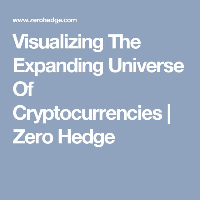 Visualizing The Expanding Universe Of Cryptocurrencies | Zero Hedge