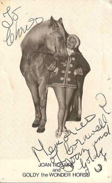 Joan Rosaire & Goldy the Wonder Horse