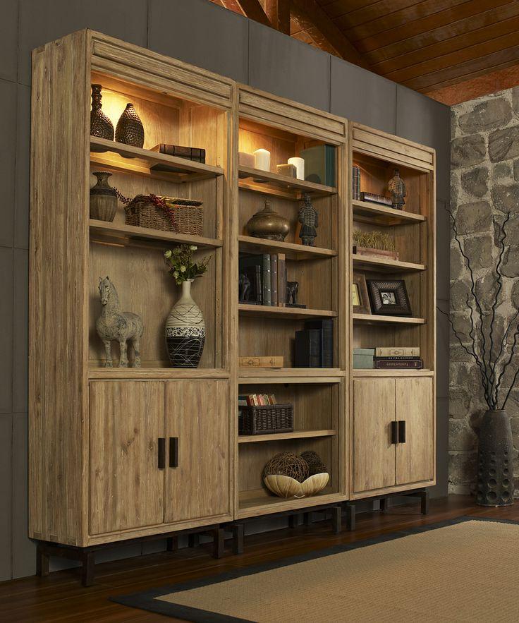 Weathered Vellum Blair Triple Bookcase