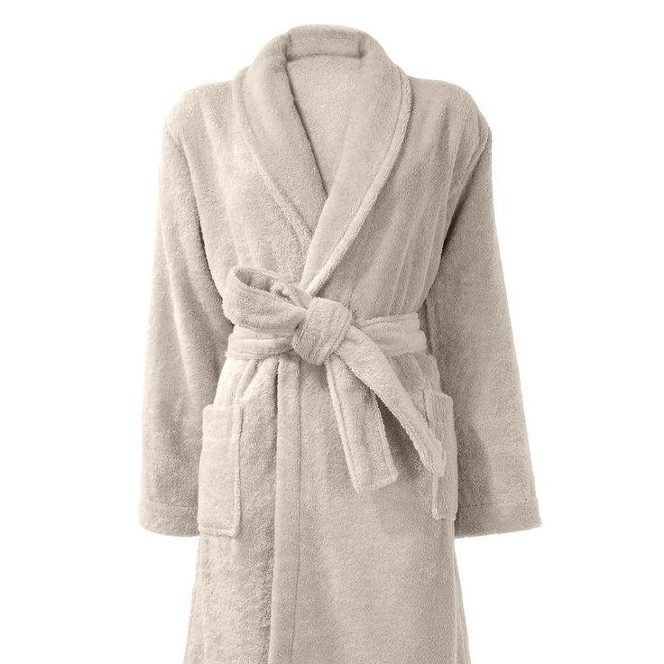 Peignoir de bain en coton beige  #Soft #LeGuide