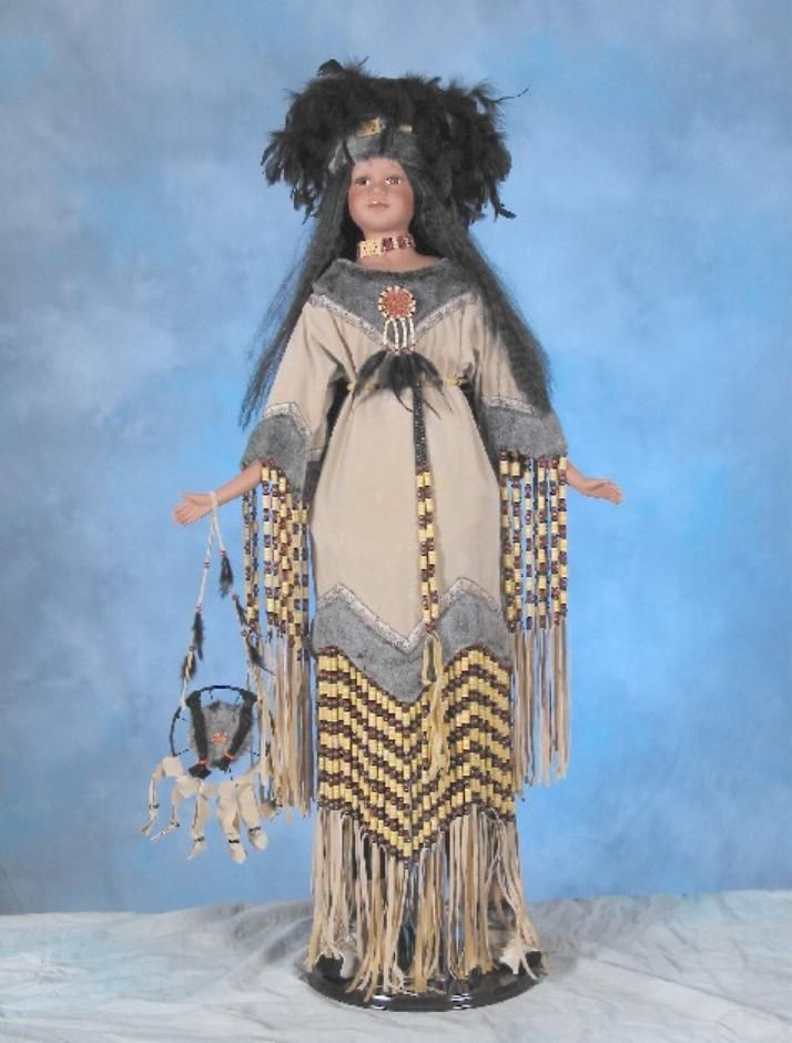 Native American Indian Porcelain Dolls For Sale