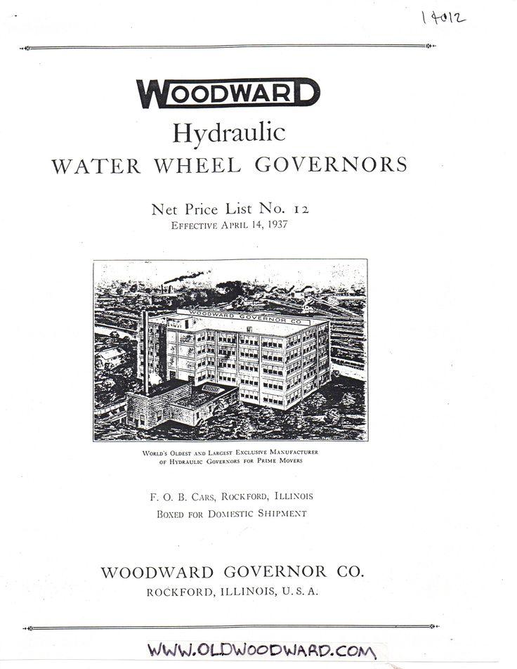 33 best Woodward Governor Company's Hydraulic Turbine