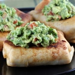 chicken chimichangas with guacamole