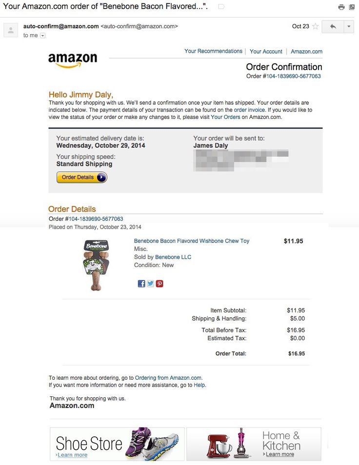 amazon-email-receipt   Email - Auto/Confirmations ...