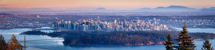 Vancouver Skyline at Sunset. Full size image is 89 megapixels. You can view the 15 megapixel version here: http://photo5.photokaz.com/images/Vancouver%20Panorama%20Feb%202013.jpg    Taken on Feb. 19, 2013 from the Cypress Mountain viewpiont with a Nikon D800 and 80-200 f/2.8D lens (@200mm).