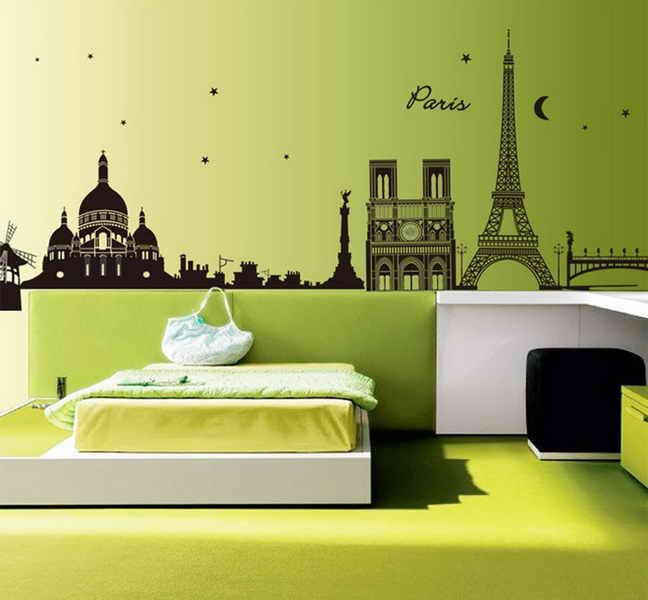 sweet home decor paris eiffel tower removable vinyl decal room wall sticker