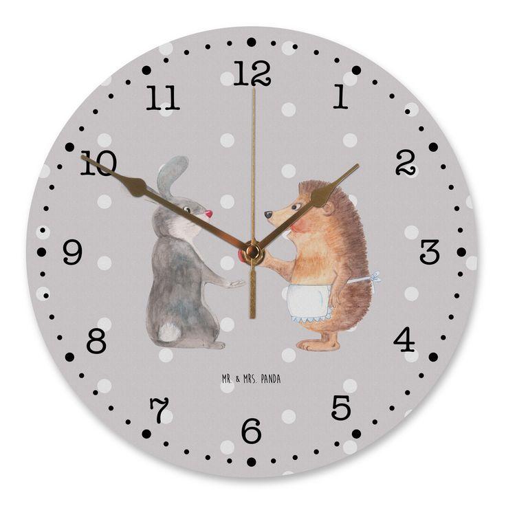 """30 cm Wanduhr Liebe ist nie ohne Schmerz aus MDF  Weiß - Das Original von Mr. & Mrs. Panda.  Diese wunderschöne Uhr von  Mr. & Mrs. Panda wird liebeveoll in unserem Hause bedruckt und an sie versendet. Sie ist das perfekte Geschenk für kleine und große Kinder, Weltenbummler und Naturliebhaber. Sie hat eine Grösse von 30 cm und ein absolut LAUTLOSES Uhrwerk.    Über unser Motiv Liebe ist nie ohne Schmerz  """"Liebe ist nie ohne Schmerz"""" sagte der Hase und umarmte den Igel - unsere wunderschöne…"""