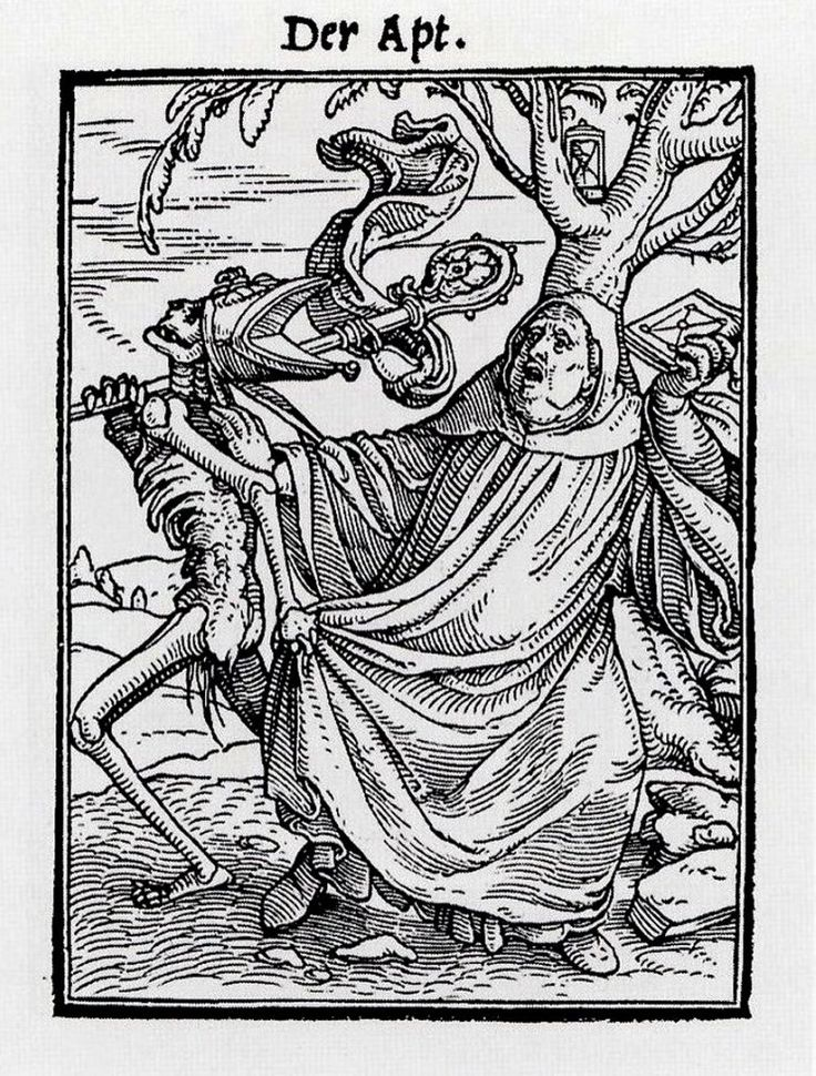 The Abbot, from The Dance of Death, by Hans Holbein the Younger - Hans Holbein…