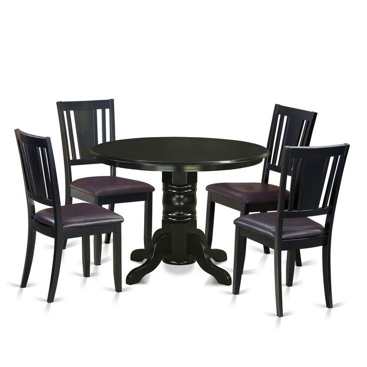 5 Piece Kitchen Nook Dining Set Wood Seat Black Size Sets
