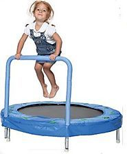 """Kids Trampoline With Handle And Music   Bazoongi 48"""" Bouncer Trampoline with Handle Bar"""
