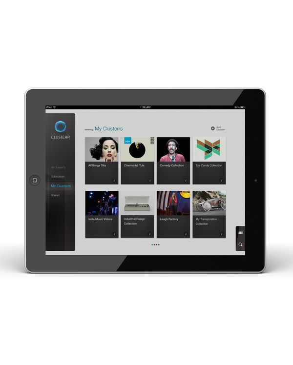 Clusterr iPad App (reissue 2012 by Omar Puig, via Behance    ----BTW, Please Visit:  http://artcaffeine.imobileappsys.com