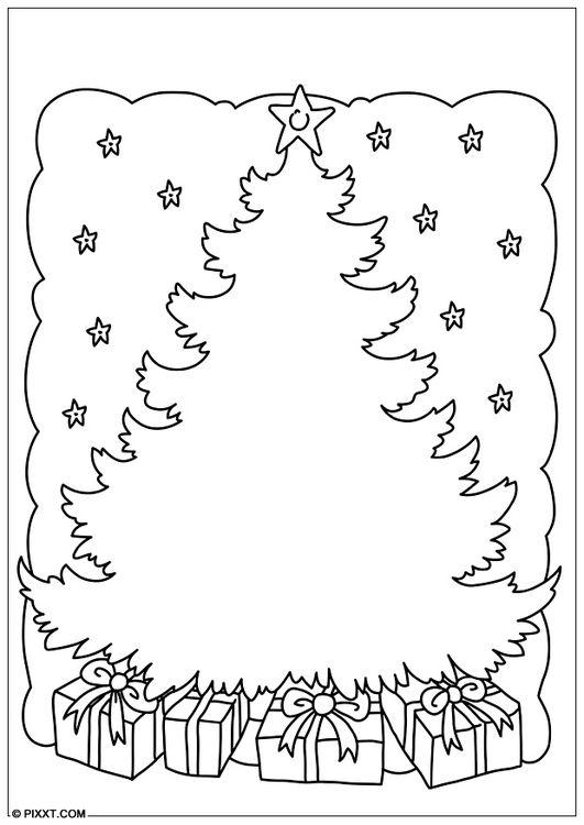 Målarbild Julgran