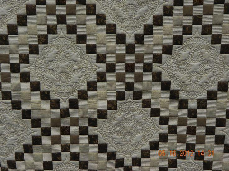 Machine Quilting On Triple Irish Chain Quilt Patterns
