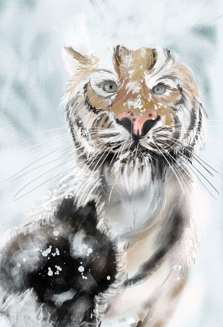 Tiger #digital #painting #iPad #Procreate  My own work