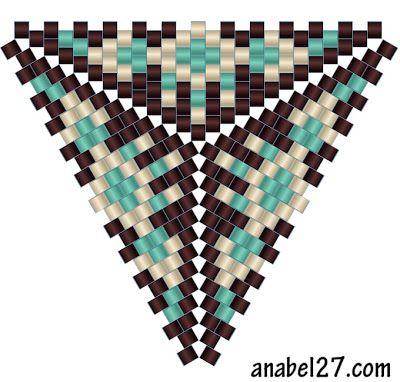 схемы треугольников бисер бисероплетение peyote pattern