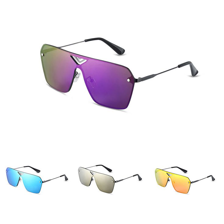 HAKBAHO JEWELRY Tokyo Drift Inspired Unisex Purple Gradient Fashion Sunglasses