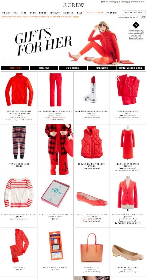 101 Gift Ideas from J. Crew (love this guide!)