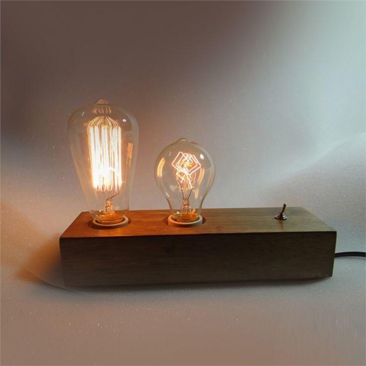 テーブルランプ 卓上照明 テーブルライト 木製照明 カントリー 2灯