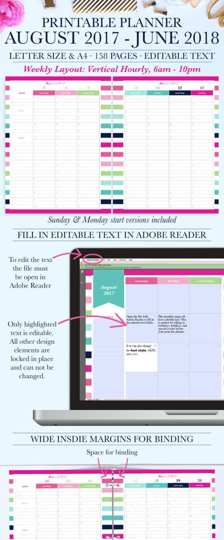 Best 25+ Hourly planner ideas on Pinterest Daily schedule - hourly calendar template