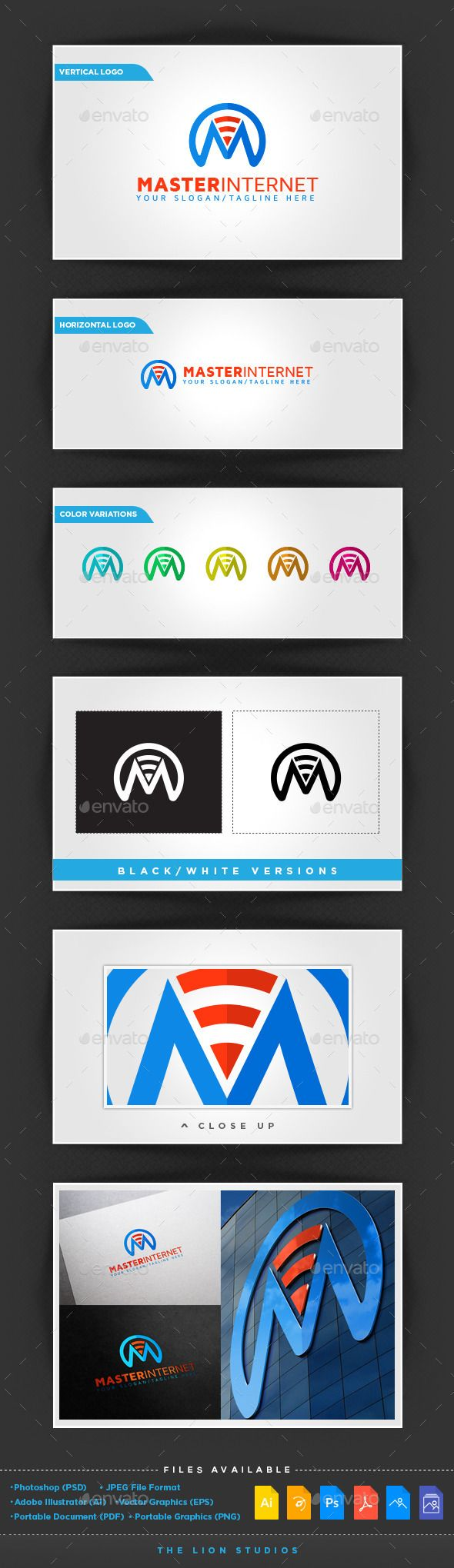 Master Internet Logo Template — Photoshop PSD #internet #m branding • Available here → https://graphicriver.net/item/master-internet-logo-template/10009117?ref=pxcr