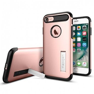 Spigen Slim Armor Case for Apple iPhone 7 - Rose Gold - Retail Packaged - The Spigen Slim Armor case is the slimmed down protective option for your iPhone 7. With Air Cushion Technology and a two-piece build, it delivers military-grade protection (MIL-STD 810G 516.6) for security against drops and impacts. Its unique style sets it apart from other bulky cases. www.lambertpaint.com
