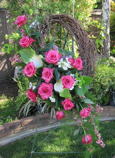Pink Rose Wreath Funeral Sympathy Pinterest Pink