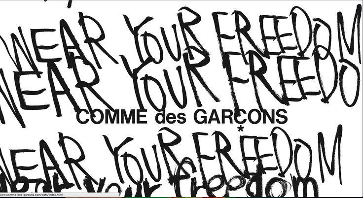 http://www.comme-des-garcons.com/index_en.html