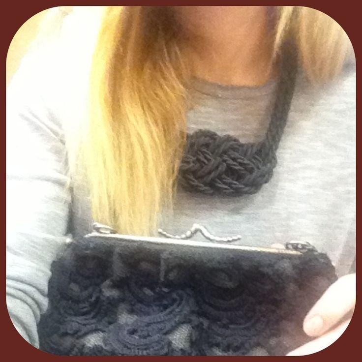 NEW-Satin-rope necklace with big knot in black! Ask for colors! MORE ON--> http://www.facebook.com/thefthing /  Κολιέ από σατέν σχοινί  σε Μαυρο χρώμα με μεγάλο κόμπο! Ρωτήστε για χρώματα!! Λεπτομέρειες στο --->http://www.facebook.com/thefthing