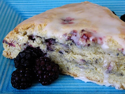 Lemon Blackberry Sour Cream Scones