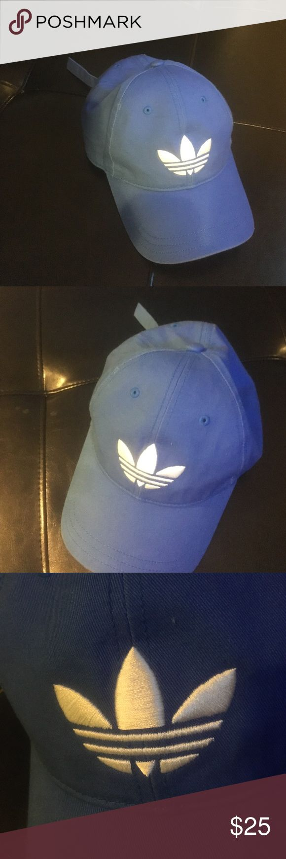 Adidas Adjustable Dad Strapback Hat - Royal Blue Unisex Adidas Adjustable Hat that is Royal Blue. Has been worn with some minor ware as pictured. Adidas Accessories Hats