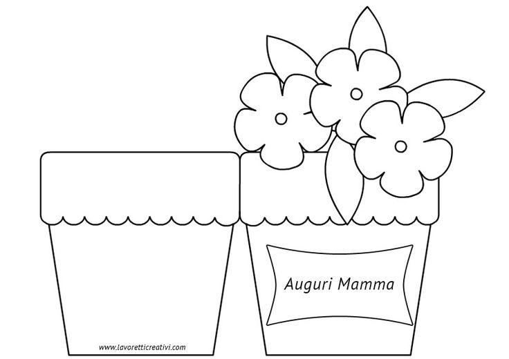 Biglietto Festa della Mamma – Vaso con fiori