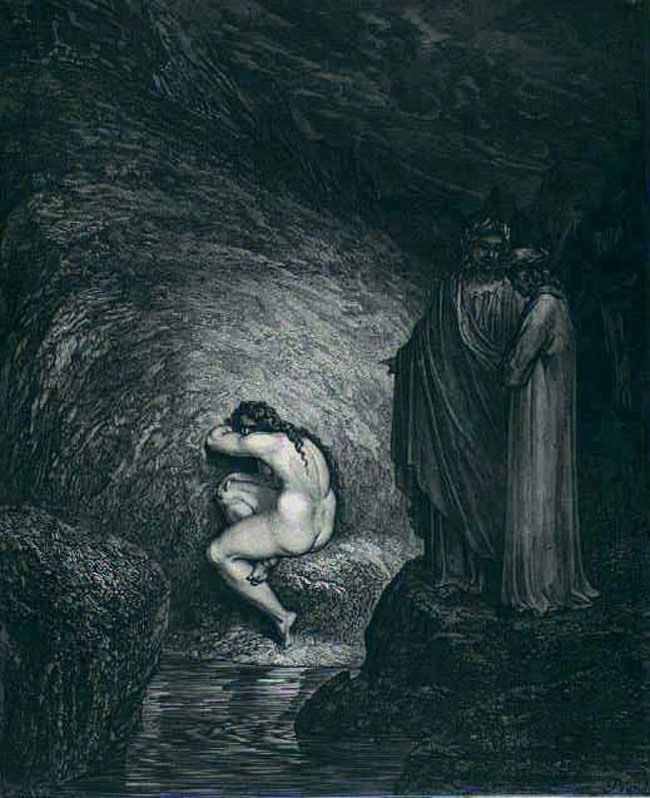 a review of dantes virgil in inferno Dante's inferno - circle 9 circle 9: circle of treachery  dante and virgil see sinners now completely frozen in the ice contorted in various positions.