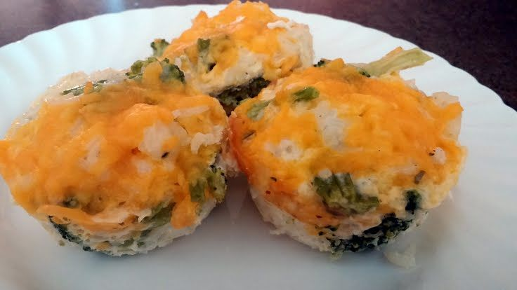 Broccoli & Cheese Rice Cups! Trying these tonight. They look good!